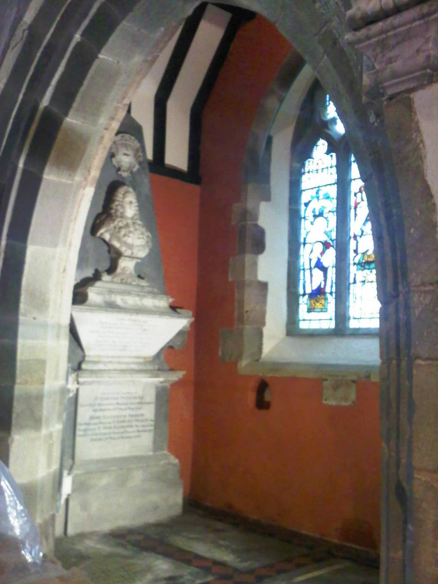 Image details: Distempered walls in a Gloucestershire church