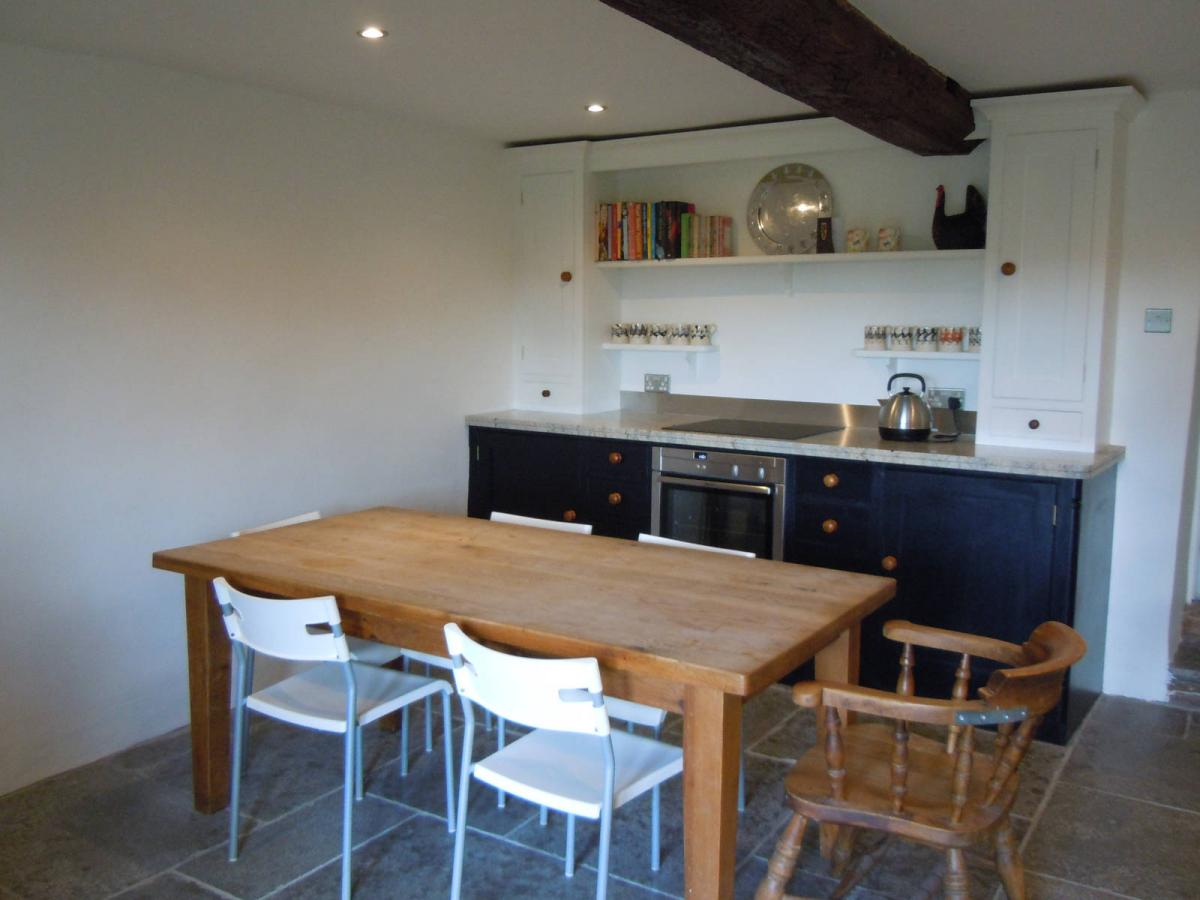 Image details: Hand painted bespoke kitchen units.