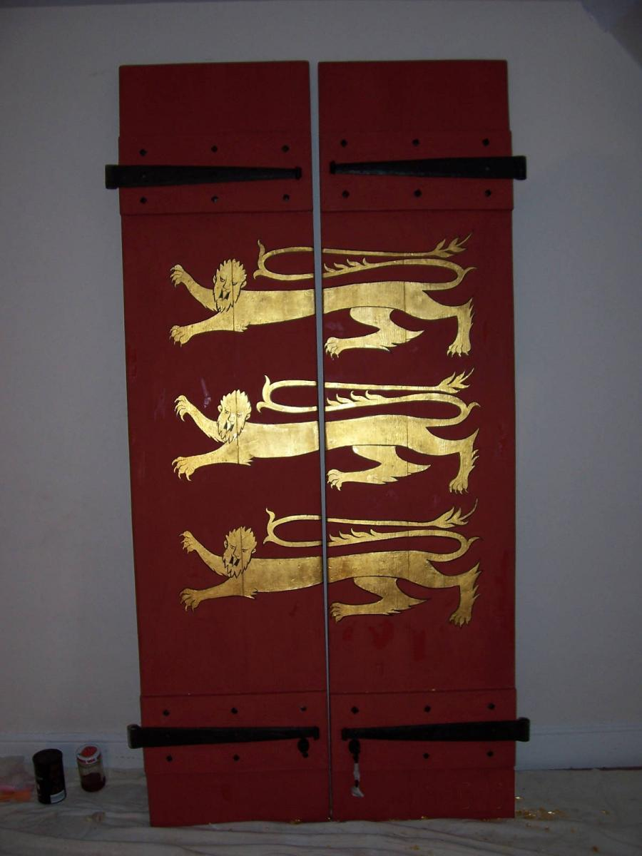 Image details: Gilding on shutters from the Tower of London
